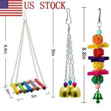 New listing Us Parrot Birds Toy Parts Swing Perch Chew Toys Climbing Hanging Toy Accessorie