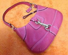 Authentic Coach HAMPTON Small Evening Shoulder Bag - Deep Pink Gold Hardware EUC