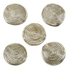 Esmaltado hipnótico Remolino Beige Metal redondo del grano 26mm Paquete de 5 (E86/8)