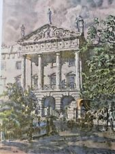 Hanover Terrace Regent's Park by Walter Bayes RWS 1946 Vintage Print Colour