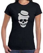 Damen-T-Shirts mit Totenkopf Strass