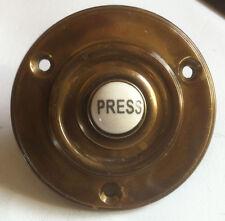 ROUND 60mm finitura anticata campanello con pulsante di stampa