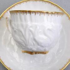 Meissen Schwanendessin, Espressotasse / Mokkatasse weiß mit gold Schwanenservice