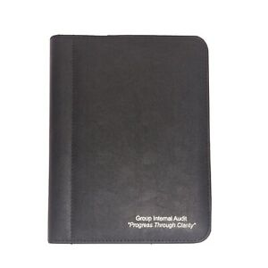 9x7 Black Faux Leather Notepad Notebook Holder Cover Book Repurpose Upcycle LOOK