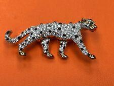 Swarovski Crystal Leopard Brooch