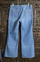 Vintage 70's Mens Denim Bell Bottom Jeans 34 X 32 Excellent Condition Penny's