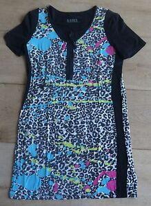 5 AIRES MAAT 44 Jurk L92xB45cm luipaard print dress robe Kleid vestido abito