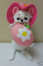 """2013 Annalee 6"""" """"Easter Egg Mouse"""" Doll Figurine #201213 Open Mouth wTooth B"""