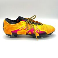 Adidas Mens X 15+ Primeknit SG Soccer Shoes Orange Pink Lace Up AQ4766 12.5 New