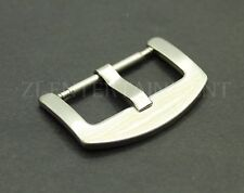 22MM Spring Bar Buckle For Watch Leather Alligator Rubber Strap Brushed Satin