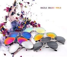 Retro Aviator Sunglasses Vintage Mirror Lens New Men Women Fashion Frame Glasses