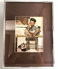 Vtg Norman Rockwell The Lion Keeper Zookeeper Art Framed Print Lithograph Litho
