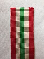 """Full Size World War Italy Star Sold in 6/"""" Lengths Medal Ribbon 2nd"""