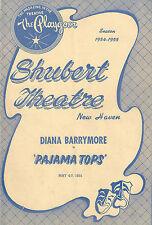 "Diana Barrymore ""PAJAMA TOPS"" Leopold Badia / Brook Byron 1955 New Haven Program"