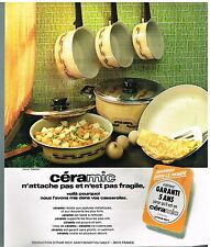 Publicité Advertising 1975 Les Casseroles et poeles Ceramic