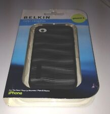 Belkin Grip Graphix Durable Shock Absorbant Black IPhone 4 Case Great Deal!
