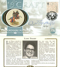 2 MAY 2000 ART AND CRAFT BENHAM SILK FDC SIGNED ANTIQUES EXPERT LARS THARP
