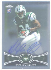 2012 TOPPS CHROME STEPHEN HILL ROOKIE AUTOGRAPH - NEW YORK JETS - MINT!