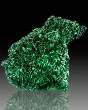 """6"""" 100+Leafy Sprays ShimmerGreen SILKY MALACHITE Fibrous Crystals Congo for sale"""