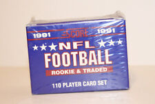 1991 SCORE FOOTBALL ROOKIE & TRADED 2 COUNT  Factory Sealed Set