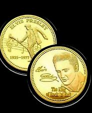 Elvis Presley1935-1977 The King of Rock N Roll Collectible Commemorative UK Coin