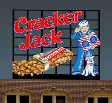 Cracker Jack Billboard Animated Neon Sign For O/Ho Scale-Lights, Flashes & More!