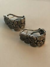 John Hardy Sterling Silver Kali Collection Pebble Hi-Way Earrings
