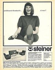 PUBLICITE ADVERTISING 015  1964  STEINER   sièges fauteuils