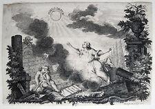 COELO DATUR, KUPFERSTICH 1752 MARTIN BERNIGEROTH (1670 RAMMELBURG-1733 LEIPZIG)