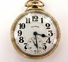 .1927 ILLINOIS BUNN SPECIAL 60H MOTOR 16S 21J POCKET WATCH WITH TWIN CASE BACKS