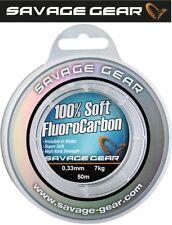 Fluorocarbon 100/% Gong Angelschnur Vorfach 50m Monofile Hecht Zander 1m// 0,12€