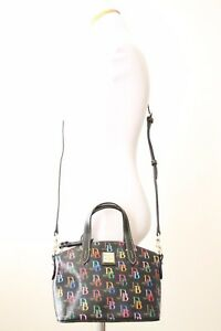 DOONEY & BOURKE DB75 Multi Ruby Top Handle / Crossbody Bag DM0177 BB, Black