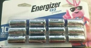 Energizer 123 Lithium Batteries Pack of 12 Batteries Exp 2030 sealed