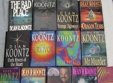 DEAN KOONTZ - 12 OF HIS BESTSELLERS IN H/C 1st EDITIONS Plus Companion Volume
