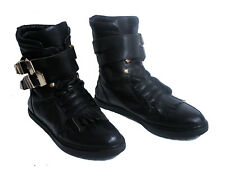 Alexander Wang Frankie Creeper Boots Size UK 6 / 39 Black Leather Ankle
