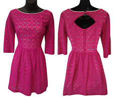 LILLY PULITZER Lace Overlay Dress With Cutout Back, size 4