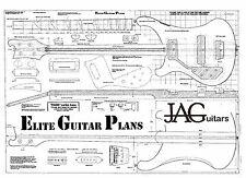 Dibujo/Luthiers plan de proyecto para un zurdo Rikki R4001 Bajo Guitarra P035L