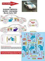 DECALS 1/24 REF 28 SUBARU IMPREZA WRX BURRI RALLYE MONTE CARLO 1997 WRC RALLY