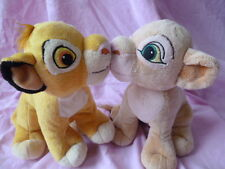couple peluche disney Le Roi Lion Simba et Nala Bisous the lion king plush kiss