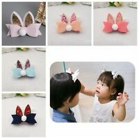 1 Pc Cute Rabbit Ears kids Hairpins Children Headwear Girls Baby Hair Clips