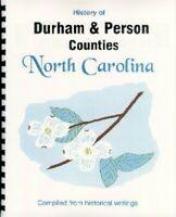 Durham/Person County North Carolina history Roxboro Duke University NC Reprint