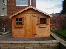 wooden wendy house or playhouse