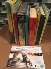 Mad Men ScreenBid: Bobby Draper's Wood Bookends w/Book Collection-On Screen Prop