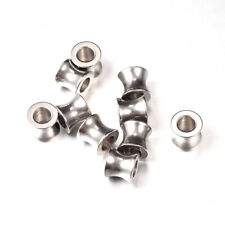 10x 304 Stainless Steel Metal European Beads Column Large Hole Charms Smooth 9mm