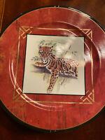 Lynn Chase Asian Views Salad / Dessert Plate (s)  TIGER