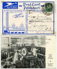 AIRMAIL EMPIRE EXHIBITION SOUTH AFRICA SPECIAL 1/2d RATE CARD + POSTMARK GPO PPC