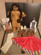 American Girl Doll Kaya Native American- w Book, 2 pr Shoes, Gloves, & extras