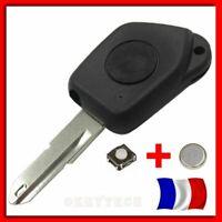 Coque Plip Clé Pour Peugeot Un Bouton 106 205 206 306 405 406 + 1 Switch + Pile