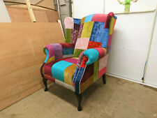 Queen Anne Patch Work High Back Chair