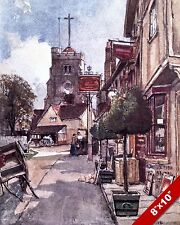 PINNER MIDDLESEX ENGLAND ENGLISH LANDSCAPE ART PAINTING REAL CANVAS PRINT
